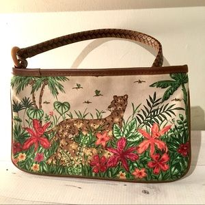 Cheetah Jaguar Jungle Cat purse wristlet clutch